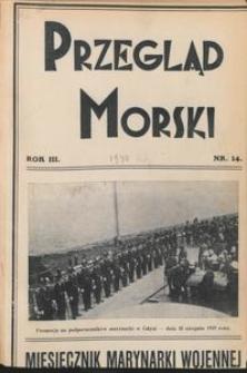 Przegląd Morski : miesięcznik Marynarki Wojennej, 1930, nr 14
