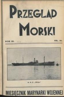 Przegląd Morski : miesięcznik Marynarki Wojennej, 1930, nr 16