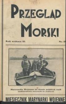Przegląd Morski : miesięcznik Marynarki Wojennej, 1930, nr 18
