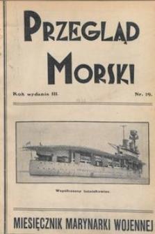 Przegląd Morski : miesięcznik Marynarki Wojennej, 1930, nr 19