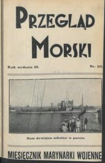 Przegląd Morski : miesięcznik Marynarki Wojennej, 1930, nr 20