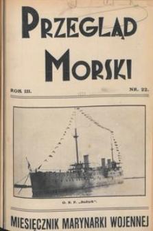Przegląd Morski : miesięcznik Marynarki Wojennej, 1930, nr 22