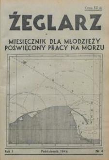 Żeglarz : miesięcznik dla młodzieży poświęcony pracy na morzu, 1946, nr 4