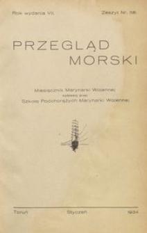 Przegląd Morski : miesięcznik Marynarki Wojennej, 1934, nr 58