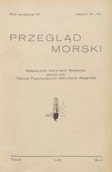 Przegląd Morski : miesięcznik Marynarki Wojennej, 1934, nr 59