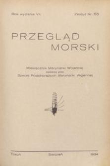 Przegląd Morski : miesięcznik Marynarki Wojennej, 1934, nr 65