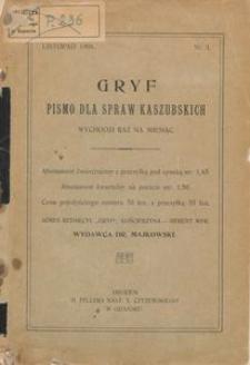 Gryf : pismo dla spraw kaszubskich, 1908, z. 1