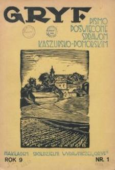 Gryf : pismo poświęcone sprawom kaszubsko-pomorskim, 1932, nr 1