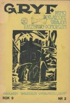 Gryf : pismo poświęcone sprawom kaszubsko-pomorskim, 1933, nr 2