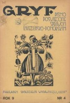 Gryf : pismo poświęcone sprawom kaszubsko-pomorskim, 1934, nr 4