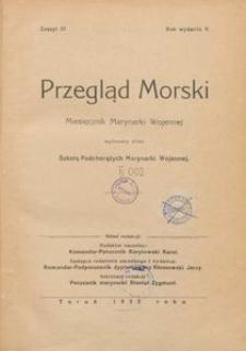 Przegląd Morski : miesięcznik Marynarki Wojennej, 1932, nr 37