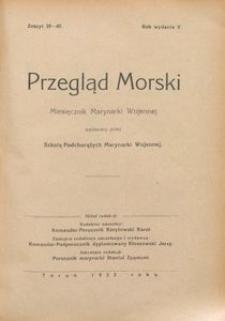 Przegląd Morski : miesięcznik Marynarki Wojennej, 1932, nr 39-40