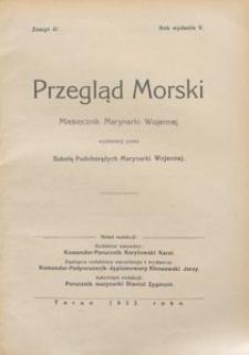 Przegląd Morski : miesięcznik Marynarki Wojennej, 1932, nr 41