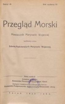 Przegląd Morski : miesięcznik Marynarki Wojennej, 1933, nr 49