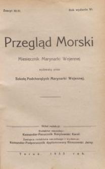 Przegląd Morski : miesięcznik Marynarki Wojennej, 1933, nr 50-51