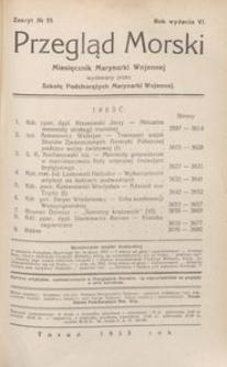 Przegląd Morski : miesięcznik Marynarki Wojennej, 1933, nr 55