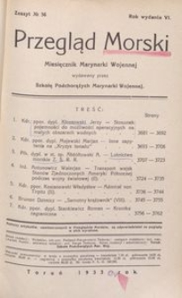 Przegląd Morski : miesięcznik Marynarki Wojennej, 1933, nr 56