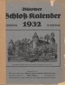 Bütower Schloß-Kalender 1932