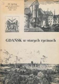 Gdańsk w starych rycinach : 23 ryciny Jana Karola Schultza