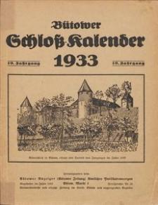 Bütower Schloß-Kalender 1933