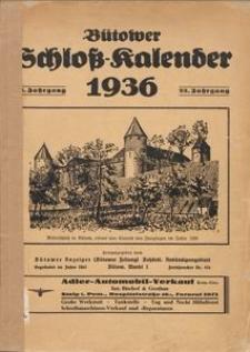 Bütower Schloß-Kalender 1936