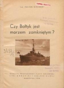 Czy Bałtyk jest morzem zamkniętym ?