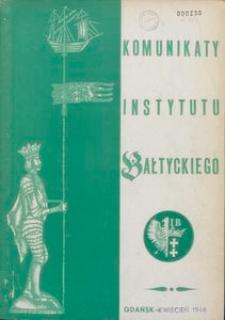 Komunikaty Instytutu Bałtyckiego, zeszyt specjalny