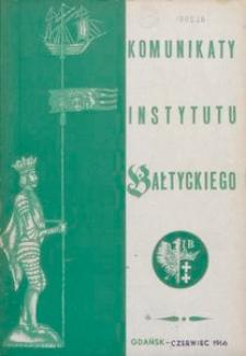 Komunikaty Instytutu Bałtyckiego, z.4