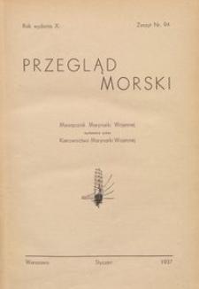 Przegląd Morski : miesięcznik Marynarki Wojennej, 1937, nr 94