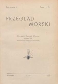 Przegląd Morski : miesięcznik Marynarki Wojennej, 1937, nr 95