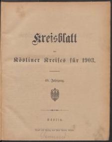 Kreisblatt des Kösliner Kreises 1903