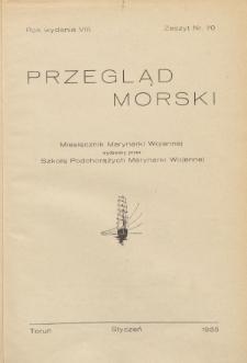 Przegląd Morski : miesięcznik Marynarki Wojennej, 1935, nr 70