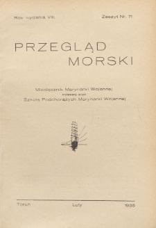 Przegląd Morski : miesięcznik Marynarki Wojennej, 1935, nr 71