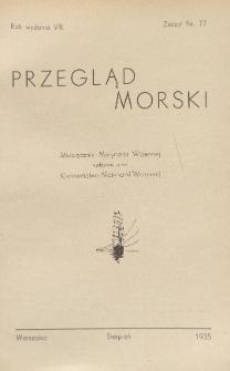 Przegląd Morski : miesięcznik Marynarki Wojennej, 1935, nr 77