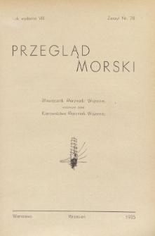 Przegląd Morski : miesięcznik Marynarki Wojennej, 1935, nr 78