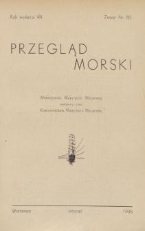 Przegląd Morski : miesięcznik Marynarki Wojennej, 1935, nr 80