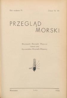 Przegląd Morski : miesięcznik Marynarki Wojennej, 1936, nr 83
