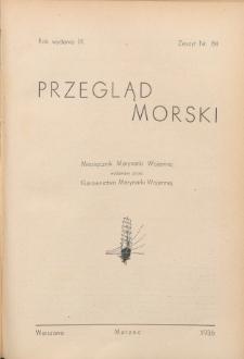 Przegląd Morski : miesięcznik Marynarki Wojennej, 1936, nr 84
