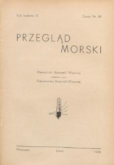 Przegląd Morski : miesięcznik Marynarki Wojennej, 1936, nr 88
