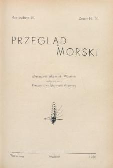 Przegląd Morski : miesięcznik Marynarki Wojennej, 1936, nr 90
