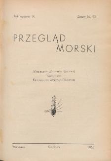 Przegląd Morski : miesięcznik Marynarki Wojennej, 1936, nr 93