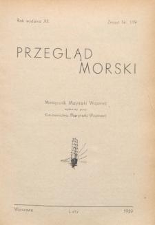 Przegląd Morski : miesięcznik Marynarki Wojennej, 1939, nr 119