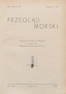 Przegląd Morski : miesięcznik Marynarki Wojennej, 1939, nr 124