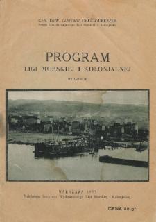 Program Ligi Morskiej i Kolonjalnej