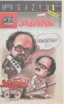 """Magazyn """"Solidarność"""", 1995, nr 1"""