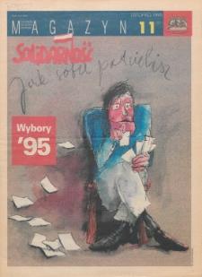 """Magazyn """"Solidarność"""", 1995, nr 11"""