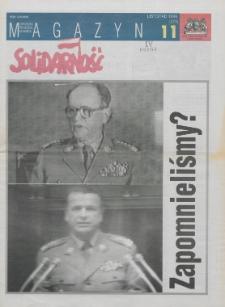"""Magazyn """"Solidarność"""", 1996, nr 11"""