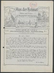 Aus der Heimat. Ernstes und Heiteres aus Vergangenheit und Gegenwart, 1912, Nr. [1]