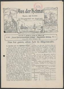 Aus der Heimat. Ernstes und Heiteres aus Vergangenheit und Gegenwart, 1912, Nr. [2]