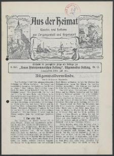 Aus der Heimat. Ernstes und Heiteres aus Vergangenheit und Gegenwart, 1913, Nr. [12]